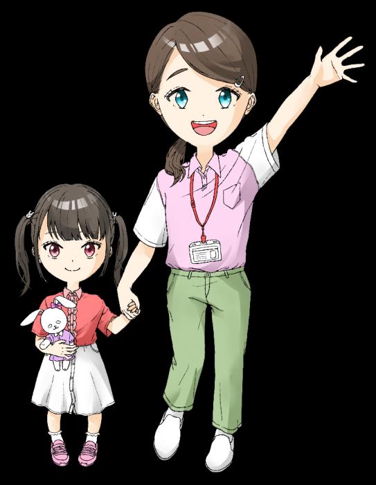 スタッフと子供